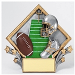 Football Diamond Plate Trophies