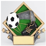 Soccer Diamond Plate Trophies