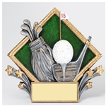 Golf Diamond Plate Trophies