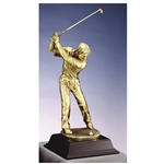 Golf Gold Metallic Resin Awards