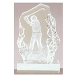 Golf Swing Sculpted Glass Awards