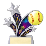 Softball Rising Star Resin Trophies