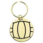 Volleyball Brass Key Chain Medals
