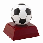 Soccer Ball on Rosewood Base Trophies