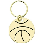 Basketball Brass Key Chain Medals