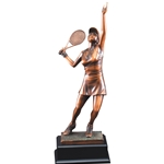 Female Tennis Gallery Trophy