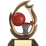 Basketball Flame Trophies