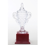 Crystal Trophy Cups on Rosewood Base