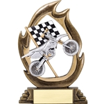 Motorcycle Flame Trophies
