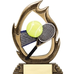 Tennis Flame Trophies