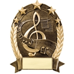 Music Five Star Resin Trophies
