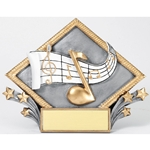 Music Diamond Plate Trophies