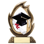 Graduation Flame Resin Trophies