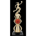 Female Basketball Fully Assembled Trophies
