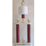 Golf Toilet Paper Trophy Two Tier