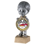Male Pinewood Derby Bobblehead Trophy