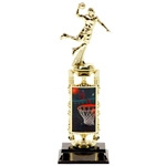 Male Basketball Atomic Lenticular Trophies