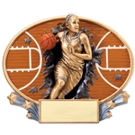 Basketball Female XPlosion Oval Trophies