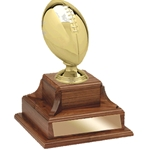 Large Metal Football Perpetual Trophy