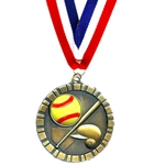 Softball 3D Medals