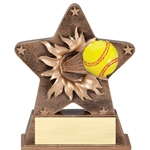 Softball Starburst Trophies