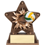 Volleyball Starburst Trophies