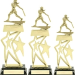 Softball Double Star Snap Trophies