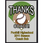 Thanks Coach Baseball Plaques