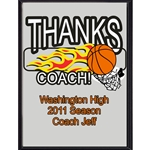 Thanks Coach Basketball Plaques