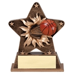 Basketball Starburst Trophies