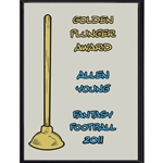 Golden Plunger Award Plaque