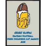 Beer Drinkers Cup Award Plaque