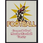 Football Starburst Plaque