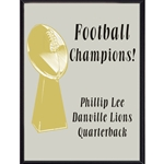 Football Champions Plaque