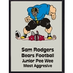 Football Tackle Plaque