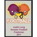 Clashing Helmets Football Plaque