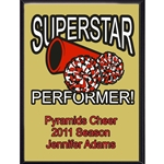 Superstar Performer Cheer Plaque