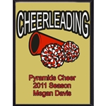 Cheerleading Plaque