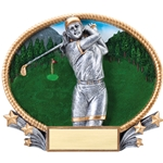 Golf Female 3D Trophies