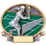 Tennis Female 3D Trophies