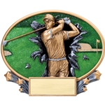 Golf Male XPlosion Oval Trophies