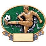 Soccer Male XPlosion Oval Trophies