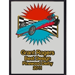 Pinewood Derby Best Design Plaques