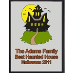 Haunted House Plaques