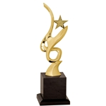 Gold Metal Art Star Premium Crystal Awards