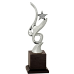 Silver Metal Art Star Premium Crystal Awards