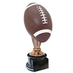 Large Full Size Color Football Trophies On Black Base
