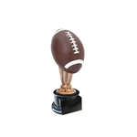 Small Color Football Trophies On Black Base