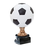 Large Full Size Color Soccer Ball Trophies On Black Base