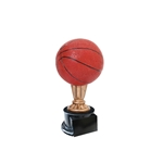Small Color Basketball Trophies On Black Base